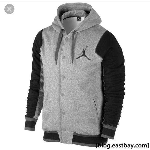 66e7c4960e0a Jordan Other - Jordan varsity hoodie 2.0 heather gray and black